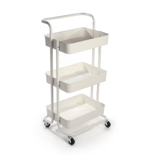 3 Tier Storage Trolley | M&W White