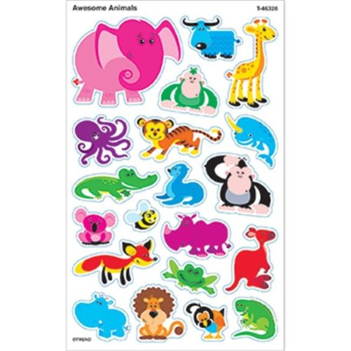 Inc.  Awesome Animals Supershapes Stickers Large