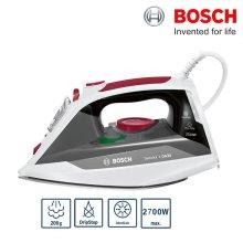 Bosch TDA3018GB DA30 Steam Iron 2700W 200g/min 3AntiCalc & DripStop White Red - Refurbished