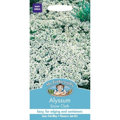 Mr Fothergills - Pictorial Packet - Flower - Alyssum Snow Cloth - 1250 Seeds