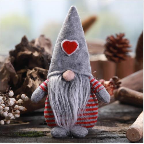 (Grey) Christmas Male Gonk Gnome Festive Decoration