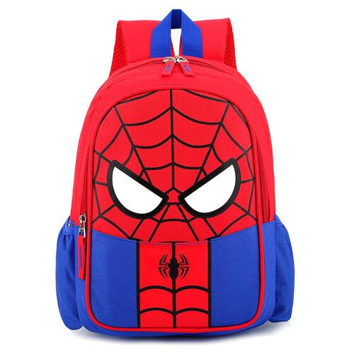 (Spider Man - Blue) Kids Superhero Backpack Spiderman Superman School Book Bag Rucksack