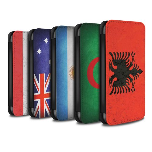 Flags Huawei P Smart Phone Case Wallet Flip Faux PU Leather Cover for Huawei P Smart