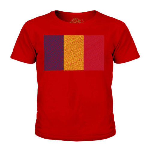Candymix - Chad Scribble Flag - Unisex Kid's T-Shirt