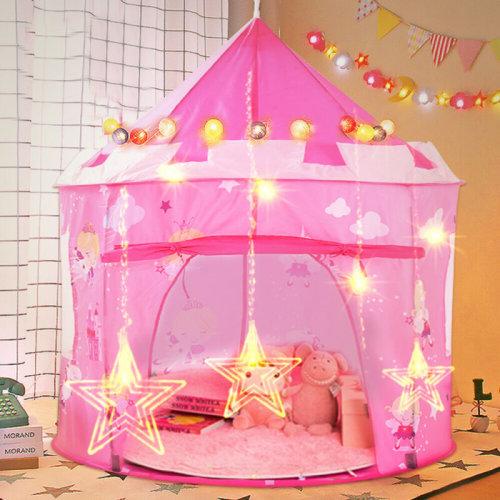 Kids Children Pop Up Princess Castle Tent Game Playhouse Girl Fairy