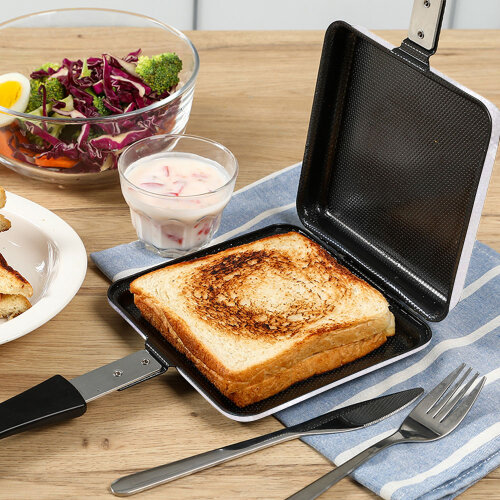 Sandwich Toaster Toastie Maker Non Stick Stainless Stee Professional