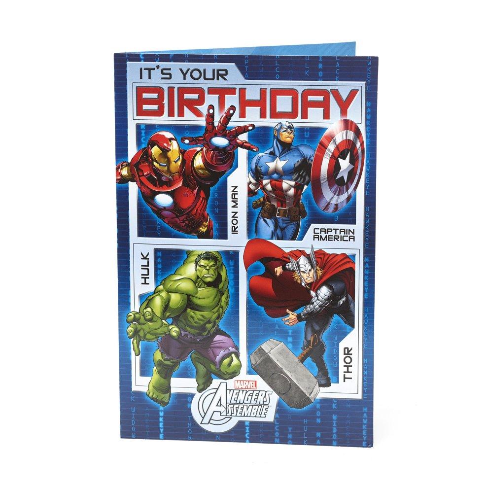 kids birthday card  avengers birthday card ideal gift