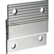 """2"""" Z Clips Heavy Duty Aluminium Wall Hangers Picture Headboard Etc"""