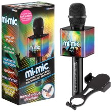 Mi-Mic TY6086 Kids Karaoke Microphone with Phone Holder and Voice Changer, Multi