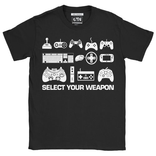Select Your Weapon Funny Gaming T Shirt