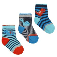 Babies 3 Pack of Dinosaur Design Socks