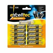 11 x Heavy Duty Zinc Carbon AA Batteries 1.5V Camera TV Flashlights