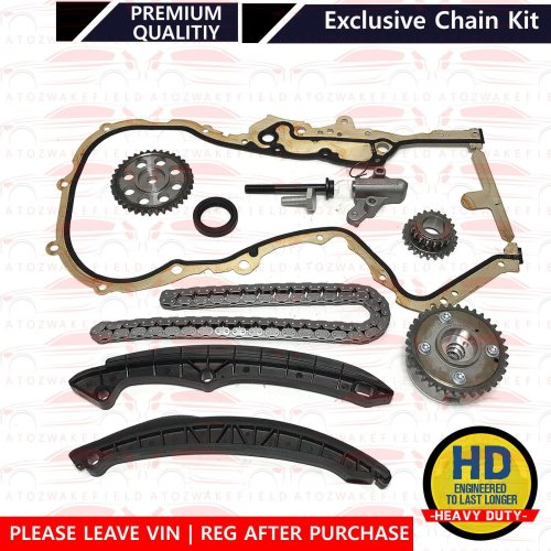 FOR AUDI A1 1.4 A3 1.6 FSI VVT TIMING CHAIN TENSIONERS GUIDE RAILS SPROCKETS KIT