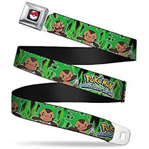 Seatbelt Belt - Pokemon - V.75 Adj 24-38' Mesh New pka-wpk115