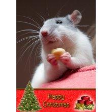"Rat Christmas Greeting Card 8""x5.5"""