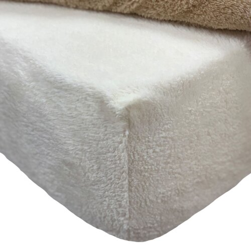 (Cream Ivory, Double) Brentfords Teddy Fitted Sheet Brentfords Teddy Fleece Fitted Sheet Thermal Warm Single Double King Bedding NEW Brentfords Teddy Fleece Fitted Sheet Th