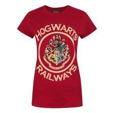 Harry Potter Womens/Ladies Hogwarts Railways T-Shirt