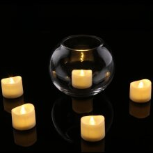 Bright Flickering Battery Operated Flameless LED Tea Light Pack of 12