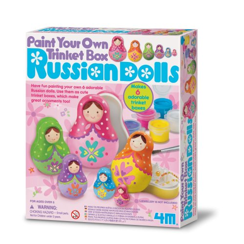 Paint Your Own Russian Doll Trinket Box Creative Set