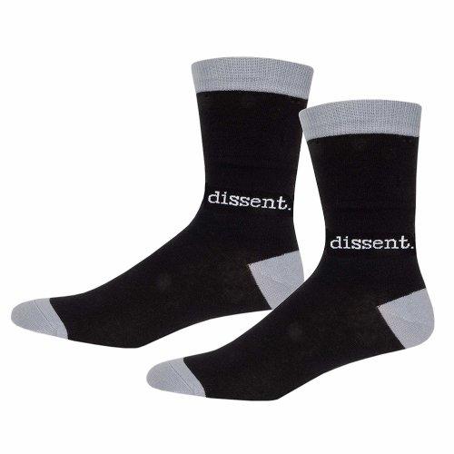 Socks - Archie McPhee - Dissent Black and Gray Men's New 12804