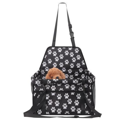 (White) Folding Pet Dog Car Seat Side Bag