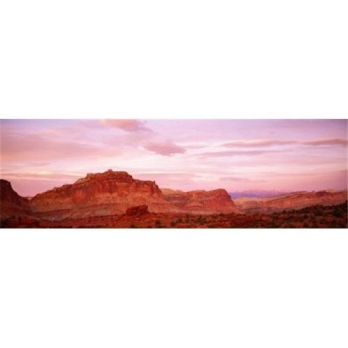 Dusk Panorama Point Capital Reef National Park UT Poster Print by  - 36 x 12