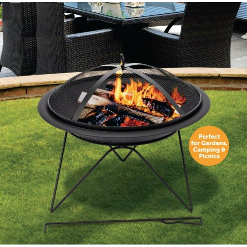 My Garden Outdoor Fire Pit Firepit BBQ Summer Round Table Stove Patio Heater