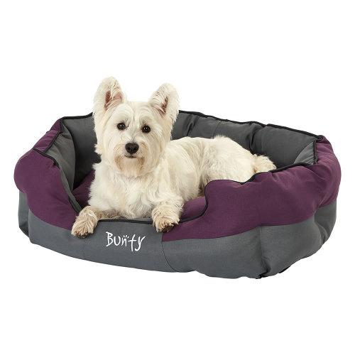 (Purple, Large) Bunty Anchor Dog Bed | Heavy-Duty Waterproof Pet Bed
