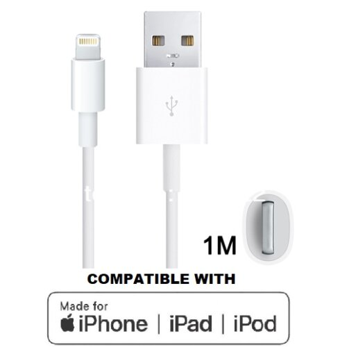 Replacement for Apple Certified iPhone/iPad Lightning-to-USB Data/Charge Cable White