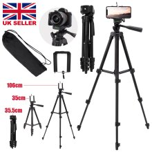 Universal Tripod Stand Telescopic Camera Phone Holder For iPhone