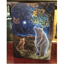 The Great Bear II Greetings card by Hannah Willow