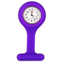 Nurses Fob Watch, Purple Silicone Gel