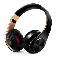 Stereo Earphones Bluetooth Headphone Music Headset FM Support SD Card With Mic For Mobile