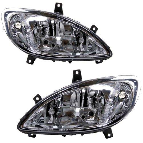 Mercedes Vito W639 2003-2010 Headlights Headlamps 1 Pair O/s & N/s