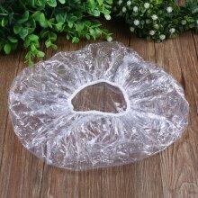 Disposable Plastics Transparent One off Shower Women Hair Cap Cover - Bath Salon Spa Hotel Bathroom Tool Accessories