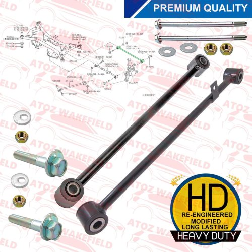 FOR NISSAN X TRAIL T30 REAR SUSPENSION UPPER LOWER WISHBONE ARMS RODS NUTS BOLTS