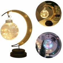 LED Moon Shape Night Light Bedside Desk Lamp