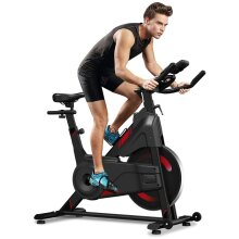 Yoleo Magnetic Resistance Exercise Bike (2021 Upgraded New Version), Heavy Duty Flywheel, Super-Silent, LCD Monitor, Pulse Sensor, Water Bottle Holder
