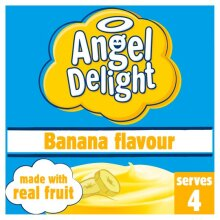 Angel Delight - Banana - Made with Real Fruit - Serves 4 - 59g
