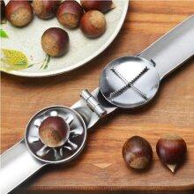 2 in 1 Quick Chestnut Clip Walnut Plier Metal NutCracker Sheller