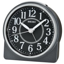 Seiko Beep Alarm Clock with Snooze - Black (QHE137K)