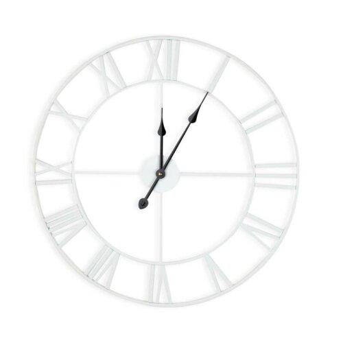 White 60cm Giant Roman Numerals Wall Clock