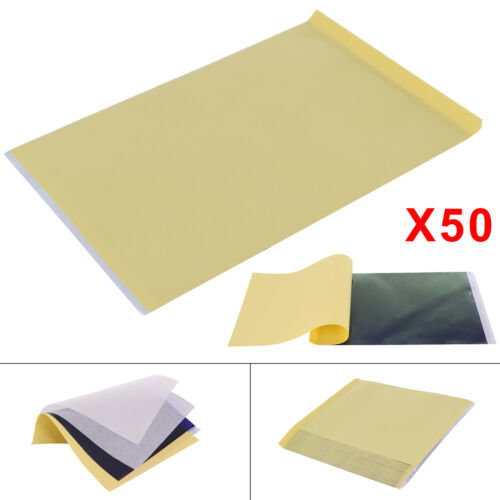 50x Tattoo Thermal Carbon/Copy Stencil Transfer Paper Tracing Kit A4