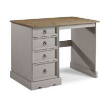 Corona Grey Wax Dressing Table Solid Wood Pine Bedroom Furniture
