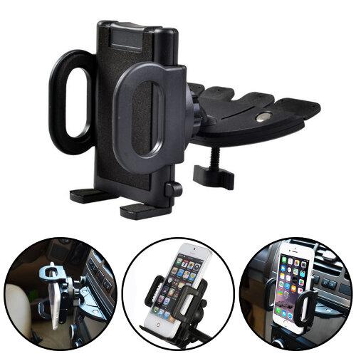 Car CD Player Slot Mount Holder Cradle For Mobile Smart Phones