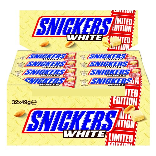 Snickers White 32Bar 1568G Pack of 1)