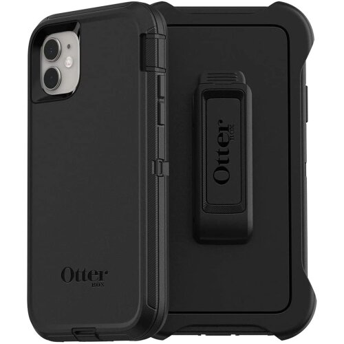 OtterBox Defender Series Rugged Protection Case Cover For iPhone 11 - Black (77-62457)