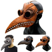 Plague Doctor Bird Long Nose Beak Steampunk Face Mask Halloween Party Costume