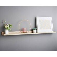 Lokken Picture Shelf  Ledge Wall Floating Shelf Home Rack Frame Easy to install 120cm - Oak