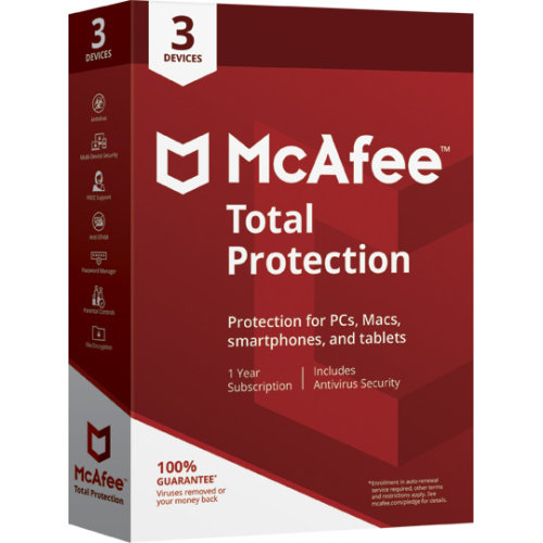 McAfee Total Protection 2021 Antivirus | 3 Devices - 1 Year